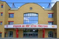 """Stadion An der Alten Försterei, Spielstätte des 1. FC Union Berlin, Eingang zur Haupttribüne, """"STADTANSICHTEN"""", An der Wuhlheide 263, Berlin, 07.05.2020"""