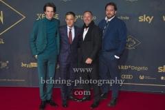 "Sabin Tambrea, Volker Bruch, Benno Fuermann, Ronald Zehrfeld, ""BABYLON BERLIN 3"", Roter Teppich zur Weltpemiere, Zoo Palast, Berlin, 16.12.2019"