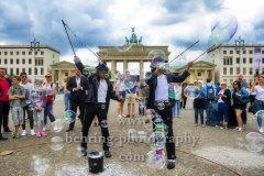 """BEAT IT"", Dantanio Goodman und Koffi Missah werden ab dem 29. August 2018 (Preview 28. August 2018) den erwachsenen und jungen Michael Jackson darstellen. Photo Call, Berlin, 15.06.2018 (Photo: Christian Behring)"