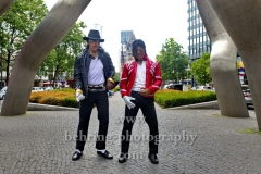 """""""BEAT IT"""", Dantanio Goodman und Koffi Missah werden ab dem 29. August 2018 (Preview 28. August 2018) den erwachsenen und jungen Michael Jackson darstellen. Photo Call, Berlin, 15.06.2018 (Photo: Christian Behring)"""