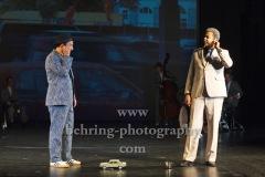 "Taner Sahintürk, Falilou Seck, ""Berlin Oranienplatz"", Fotoprobe im Maxim Gorki Theater, Berlin, am 26.08.2020, Premiere: 28.08.2020"