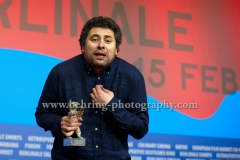 """Radu Jude (ex aequo Silver BearFor Best Director for AFERIM!), attends the """"Award Winners"""" - Press Conference during 65th Berlinale International Film Festival at the Grand Hyatt Hotel on February 14, 2015 in Berlin, Germany,"""