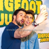 """BIGFOOT JUNIOR"" (Kinostart: 17.08.2017), Tom Beck und Lukas Rieger (Stimmen von Bigfoot und Adam), Premiere im Kino in der Kulturbrauerei, Berlin, Germany, am 06.08.2017 [Photo: Christian Behring]"