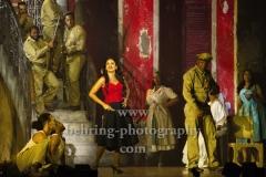 """CARMEN LA CUBANA"" (04-10-.14.10.2018 in Berlin), Luna Manzanares (Carmen), Leonid Simeon Baro (Moreno), Berlin-Premiere, Admiralspalast, Berlin, 04.10.2018"