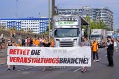 """""""Rettet die Veranstaltungsbranche"""", 4. Demonstration, Vom S-Bahnhof Landsberger Allee zum Potsdamer Platz in Berlin, 14.08.2020"""