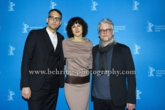 "Walter Mair (Musik), Vesselina Tchakarova (Musik), Alexander Dittner (Schnitt), attends the ""Der gleiche Himmel"" Premiere at the 67th BERLINALE, Berlin, 16.02.2017 [Photo: Christian Behring]"