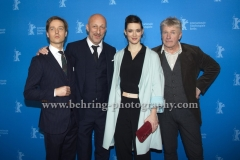 "Tom Schilling (Schauspieler/Actor), Oliver Hirschbiegel (Regisseur/ Director), Friederike Becht (Schauspielerin/ Actress), Joerg Schuettauf (Schauspieler / axtor), attends the ""Der gleiche Himmel"" Premiere at the 67th BERLINALE, Berlin, 16.02.2017 [Photo: Christian Behring]"