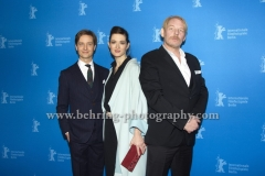 "Tom Schilling (Schauspieler/Actor), Friederike Becht (Schauspielerin/ Actress), Ben Becker (Schauspieler/Actor), attends the ""Der gleiche Himmel"" Premiere at the 67th BERLINALE, Berlin, 16.02.2017 [Photo: Christian Behring]"