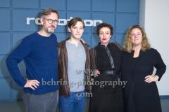 """Joerg Winger und Anna Winger(Creators und Produzenten), Jonas Nay, Maria Schrader,  """"DEUTSCHLAND 89"""", Photocall, Stasi-Zentrale Normannenstrasse, Berlin, 27.09.2019"""