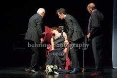 """""""Die Kameliendame"""", Joachim Bliese, Anouschka Renzi, Arne Stephan, Oliver Nitsche, Fotoprobe im Schlosspark Theater (Urauffuehrung am 10.09.2017), Berlin, 06.09.2017"""