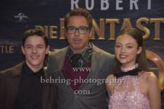 "Harry Collet, Robert Downey Jr., Carmel Laniado, ""Die fantastische Reise des Dr. Dolittle"", Red Carpet Photocall, Zoo Palast, Berlin, 19.01.2020,"