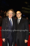 """Stanley Tucci, Geoffrey Rush, attends the """"FINAL PORTRAIT"""" - Red Carpet at the 67th Berlinale International Film Festival at the Berlinale-Palast on Frebruary 11.2017 in Berlin, germany"""