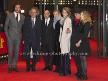 """Stanley Tucci, Clemence Poesy, Armie Hammer, Geoffrey Rush, Sylvie Testud, attends the """"FINAL PORTRAIT"""" - Red Carpet at the 67th Berlinale International Film Festival at the Berlinale-Palast on Frebruary 11.2017 in Berlin, germany"""