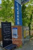 "Seebad Friedrichshagen in Koepenick, Eingang, ""STADTANSICHTEN"", Müggelseedamm 216, Berlin, 08.05.2020"