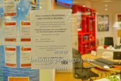 """DER Reisebuero geschlossen, """"GESCHLOSSENE GESELLSCHAFT"""", Ring Center, Berlin, 18.03.2020"""