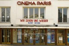 """Cinema Paris, Institut Francaise, Maison de France, an der Ecke Uhlandstrasse / Kurfürstendamm, """"STADTANSICHTEN"""", Berlin, 28.03.2020"""