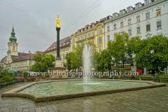 """""""Graz"""", Mariensaeule, Am Eisernen Tor, Landeshauptstadt der Steiermark, 14.10.2015 [Photo: Christian Behring]"""
