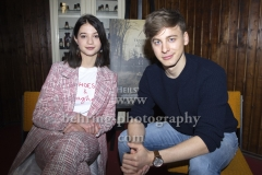 """HEILSTAETTEN"", Lisa-Marie Koroll und Timmi Trinks, Photo Call und Interview, Exit Game Escape Room, Berlin, 07.02.2018 (Photo: Christian Behring)"