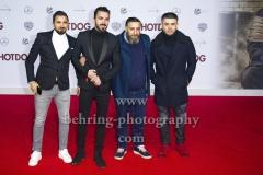 """""""HOT DOG"""", Kida Khodr Ramadan mit seinen Bruedern, Roter Teppich zur Welt-Premiere im Cine Star Potsdamer Platz, Berlin, 09.01.2018,"""