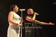 """THE HUMAN LEAGUE"", Phil Oakey, Joanne Catherall, Konzert in Huxleys Neue Welt, Berlin, 12.11.2018,"