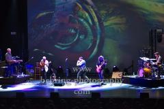 "John O'Hara (Keyboards, Piano, Akkordeon), David Goodier (Bass), Ian Anderson (Gesang, Floete), Florian Opahle (Gitarre), Scott Hammond (Schlagzeug),  ""Ian Anderson presents JETHRO TULL"", ""50th Anniversary Tour"", Konzert im Theater Am Potsdamer Platz, Berlin, 23.11.2019"