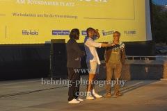 """Regisseur Dani Levy, Marcel Danner (York-Kinogruppe), Dimitrij Schaad,  """"DIE KAENGURU-CHRONIKEN RELOAD3D"""", Open-Air-Premiere, Arte Sommerkino Kulturforum, Berlin, 16.06.2020"""
