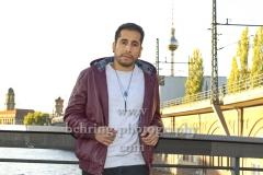 """""""Kid Colling Cartel"""" (Konzert am 21.10.2018 im HANGAR 49), Kid Colling, Photocall, An der Michaelkirchbruecke, Berlin, 21.10.2018 (Photo: Christian Behring)"""