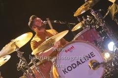 """KODALINE"", Vinny May (Schlagzeug), ""Politics Of Living""-Tour, Konzert im ASTRA Kulturhaus, Berlin, 07.10.2018"