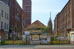 """Kabelwerk Köpenick, ehemals Zweigstelle des VEB Kabelwerk Oberspree, """"STADTANSICHTEN"""", Friedrichshagener Straße, Berlin, 08.05.2020"""