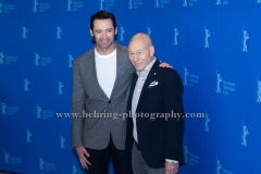 "Patrick Stewart (Schauspieler/ Actor), Hugh Jackman (Schauspieler/ Actor), attends the ""LOGAN""- Photo call and Press Conference during 657th Berlinale International Film Festival at GRAND HYATT on February 17, 2017 in Berlin, Germany (Photo: Christian Behring, www.behring-photography.com)"