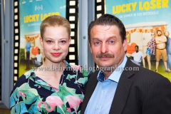 """LUCKY LOSER"", Emma Bading, Peter Trabner, Photo Call zur Berlin-Premiere, Kino in der Kulturbrauerei, Berlin, 10.08.2017 (Photo: Christian Behring)"