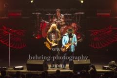 "Rickey Medlocke (Gitarre), Michael Cartellone (Schlagzeug), Gary Rossington (Gitarre, Bandleader),  ""LYNYRD SKYNYRD"", ""Farewell Tour Germany"", Konzert in der Max-Schmeling-Halle, Berlin, 18.06.2019"