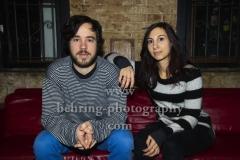 """MAREY, Aurele Louis und Maryam Hammad, Interview und Photo Call (Record Release am 02.02.2018 """"Save Animals Eat People""""), Club-Tour, Konzert im Auster Club, Berlin, am 20.02.2018,"""
