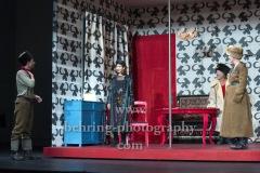 "Kathrin Angerer, Jeremy Mockridge, Katrin Wichmann, Martin Wuttke, ""Melissa kriegt alles"", Deutsches Theater, Berlin, Premiere: 29.08.2020"