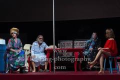 """Kathrin Angerer, Franz Beil, Katrin Wichmann, Martin Wuttke, """"Melissa kriegt alles"""", Deutsches Theater, Berlin, Premiere: 29.08.2020"""