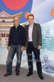 """OLYMPIA 2018"", Photo call zm Olympia-Programm von ARD und ZDF, ZDF-Team mit Toni Innauer, Norbert Koenig, Radisson Blu Hotel, Berlin, 12.12.2017,"
