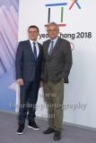 """""""OLYMPIA 2018"""", Photo call zm Olympia-Programm von ARD und ZDF, mit Volker Herres, Dr. Peter Frey, Radisson Blu Hotel, Berlin, 12.12.2017,"""