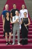 """vorne: MIDORI SEILER(Konzerteinspielung / Violine), KONSTANTIN REINFELD - (Nachwuchskünstler Instrument - Mundharmonika), FRIEDERIKE ROTH (Innovative Audio-Produktion des Jahres - BEROLINA ENSEMBLE MIT MARIA BENGTSSON), hinten: EMMANUEL PAHUD (SoIistische Einspielung / Floete), ANDREAS OTTENSAMER (Instrumentalist des Jahres - Klarinette), """"OPUS Klassik"""", Pressetermin mit Bekanntgabe der Preistraeger, Konzerthaus am Gendarmenmarkt, Berlin, 02.09.2019"""