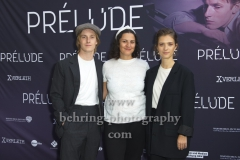 "Louis Hofmann, Regisseurin und Autorin Sabrina Sarabi, Liv Lisa Fries, ""PRELUDE"", Premiere, FAF, Berlin, 21.08.2019 (Photo: Christian Behring)"