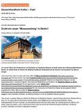 Deutschlandfunk Kultur, 08.08.2020: Alte Nationalgalerie