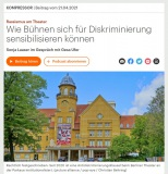 """""""Rassismus am Theater"""", Deutschlandfunk vom 21.04.2021"""