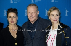 "Nina Hoss (Schauspielerin/ Actress), Susanne Wolff (Schauspielerin/Actress), Stellan Skarsgard (Schauspieler/ Actor), attends the ""RETURN TO MONTAUK"" Photo Call at the 67th BERLINALE, Berlin, 15.02.2017"