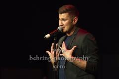 """Sebastian Raetzel"", The Baseballs-Saenger Sebastian Raetzels erstes  Solo-Konzert im Kulturhaus Karlshorst (im Fruehjahr erscheint sein Solo-Album ""Derselbe Himmel""), am 22.02.2019 in Berlin"