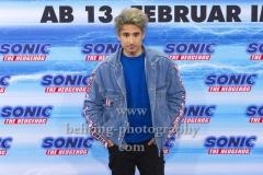 """Sonics deutschet Sprecher Julien Bam, """"SONIC Fan and Family Event"""", Blue Carpet Photocall, Zoo Palast, Berlin, 28.01.2020,"""
