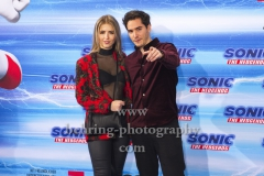 """Francois Goeske und Carla Bellgardt, """"SONIC Fan and Family Event"""", Blue Carpet Photocall, Zoo Palast, Berlin, 28.01.2020,"""