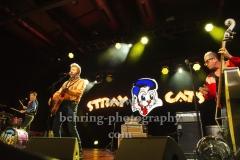 "Brian Setzer (Gesang, Gitarre), Lee Rocker (Bass), Slim Jim Phantom (Schlagzeug), ""STRAY CATS"", ""40th Anniversary Tour"", Konzert, Columbia Halle, Berlin, 03.07.2019"