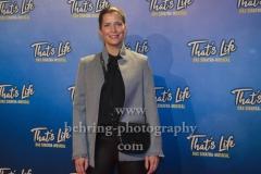 """Valerie Niehaus, """"That`s Life - Das Sinatra-Musical"""", Photocall Roter Teppich zur Premiere, Theater Am Potsdamer Platz, Berlin, 08.01.2020"""