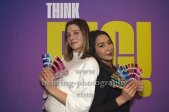 "Hanna Plass und Yasemin Cetinkaya, ""Think Big!"" (ab 07.02.20 10Folgen auf Sat.1), Photo Call, Glowy Beauty Bar, Berlin, 03.02.2020,"