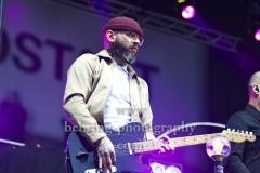 """""""TURBOSTAAT"""", Rollo Santos (Gitarre), Konzert, Parkbuehne Wuhlheide, Berlin, 25.08.2018"""