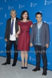 "Francisco Reyes (Schauspieler/ Actor),Daniela Vega (Schauspielerin/ Actress), Sebastian Lelio (Regisseur, Drehbuchautor/ Director, Screenwriter), attends the ""Una Mujer Fantastica"" Photo Call at the 67th BERLINALE, Berlin, 12.02.2017"